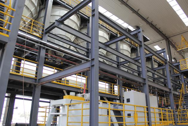耐火材料生产线配料楼
